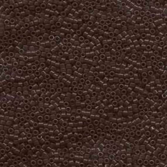 5g DB734 Miyuki Delica Bead Opaque Chocolate Brown