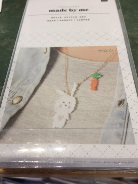 Brick Stitch Rabbit Necklace Kit