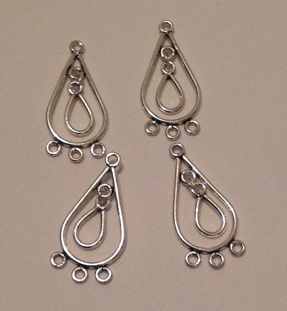 4 x metal earring chandeliers