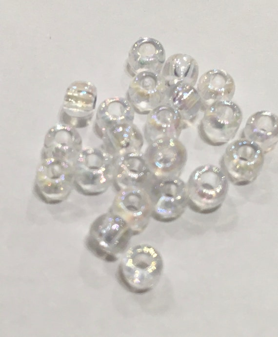 Size 6 Toho Seed Bead Transparent Rainbow Crystal 15g approximately 210 beads