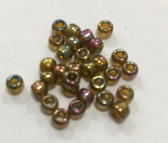 Size 6 Toho Seed Bead Gold Lustered Dark Topaz