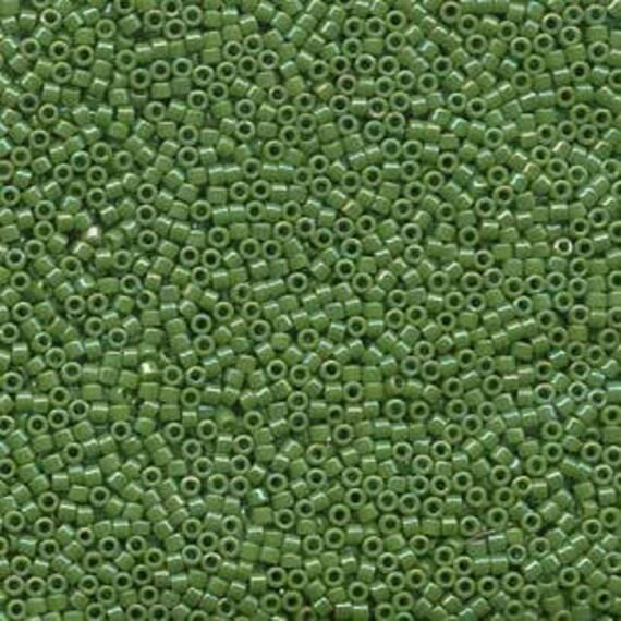 5g DB163 Miyuki Delica Bead Opaque Green AB