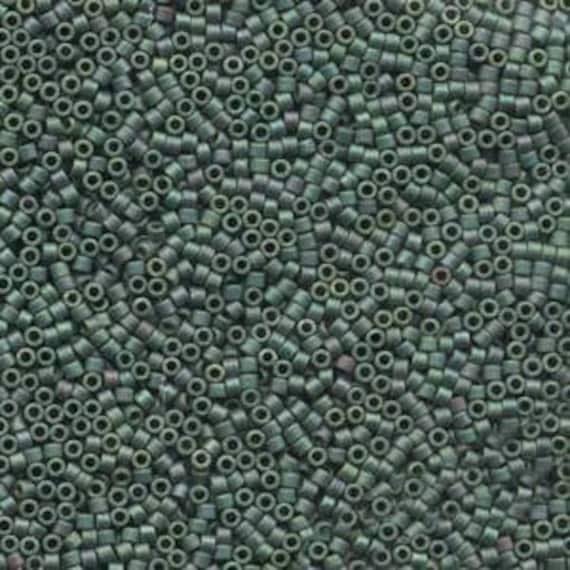 5g DB373 Miyuki Delica Bead Matte Metallic Leaf Green