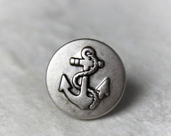 Anchor Tie Tack, Anchor Tie Pin, Mens Tie Tacks, Anchor Tie Clip, Gift for Him, Mens Gifts, Silver Anchor, Mens Anchor Jewelry, Nautical
