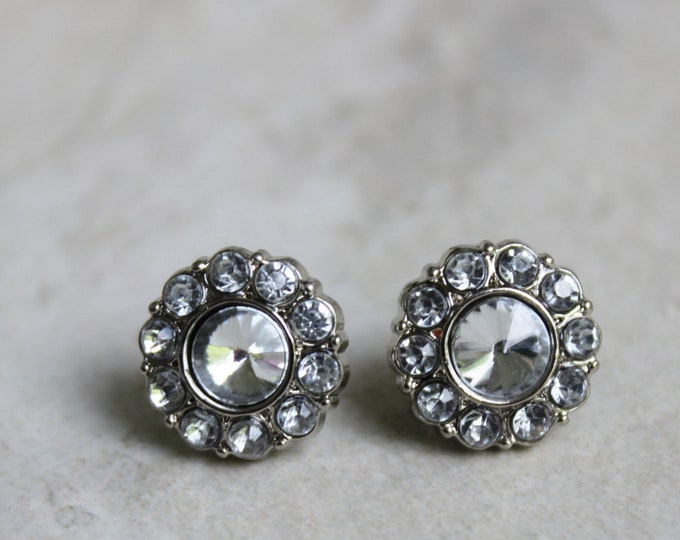Silver Crystal Bridesmaid Earrings