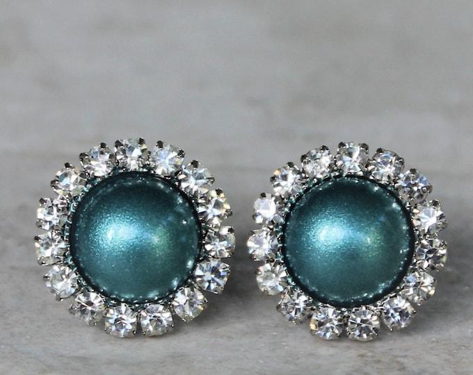 Teal Bridesmaid Earrings