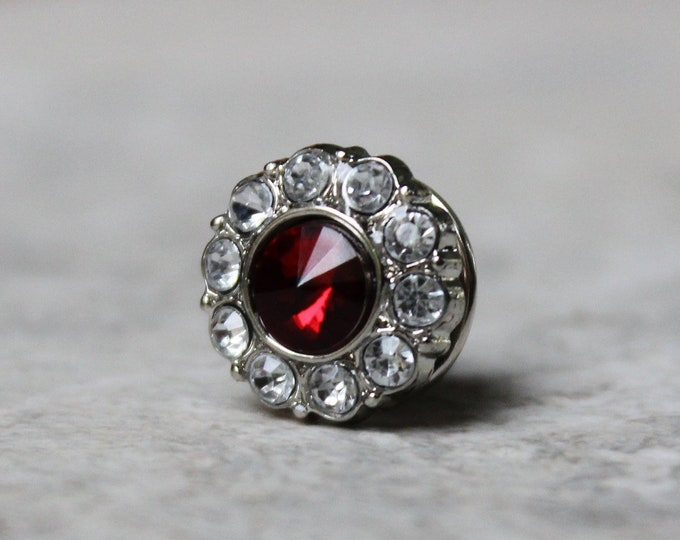 Red Tie Tack Pin, Gift Idea for Men, Mens Gift Ideas, Suit and Tie Accessories