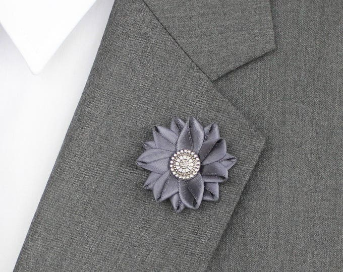 Mens Gift, Mens Lapel Pin, Custom Gift for Men, Gift for Boyfriend, Gift for Him, Gentlemans Gift, Lapel Flower Pin