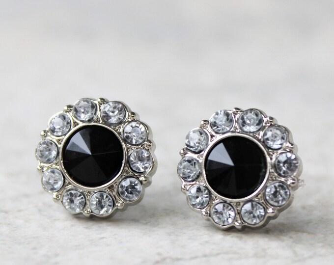 Black Onyx Stud Earrings Gift