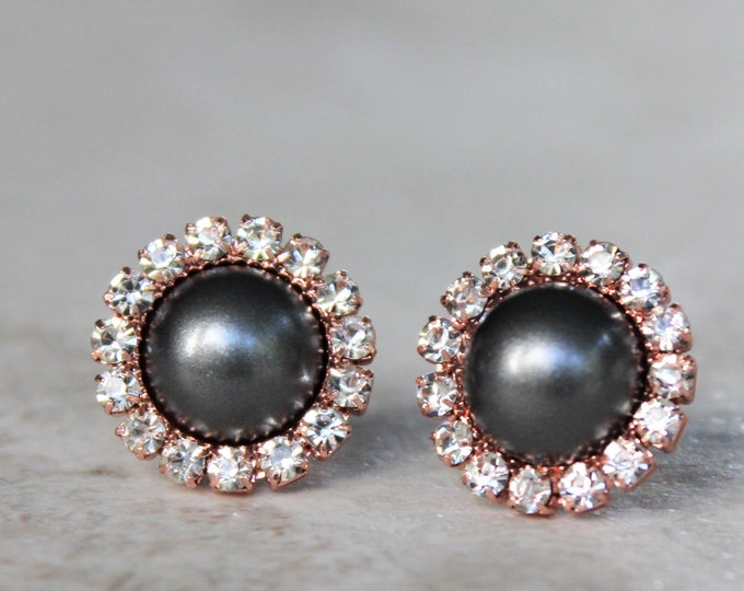 Rose Gold and Gray Wedding Jewelry