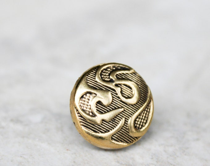 Gifts for Men, Gold Paisley Tie Pin, Gold Tie Tack, Gifts under 10 for Men, Groomsmen Gifts, Tie Tack Gift for Groomsmen, Unique Gifts