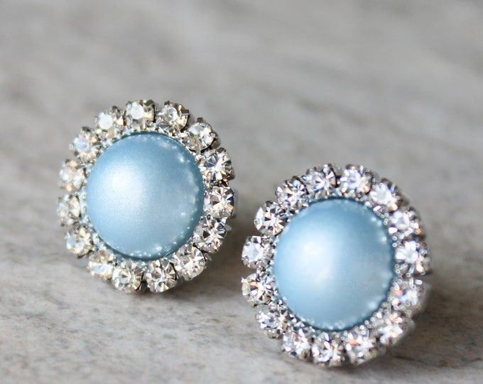Light Blue Bridesmaid Earrings