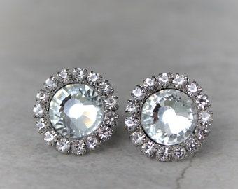 Silver Bridesmaid Earrings, Crystal Wedding Earrings, Crystal Jewelry, Crystal Earrings, Rhinestone Earrings, Bridal Jewelry, Bridesmaid