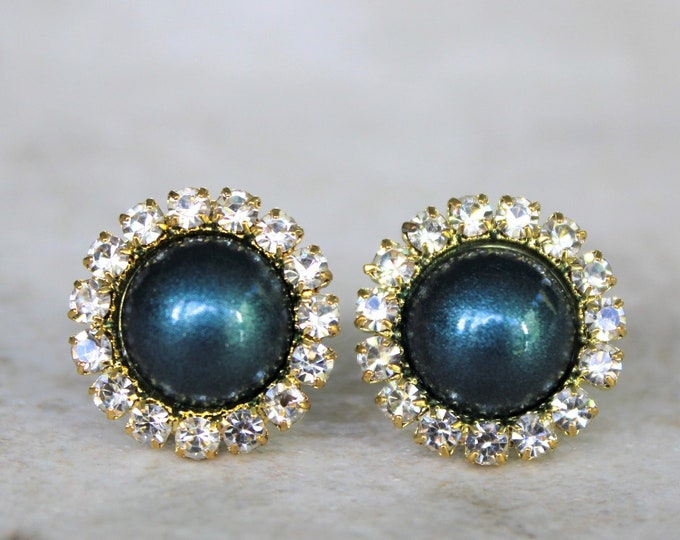 Teal Earrings Wedding Jewelry