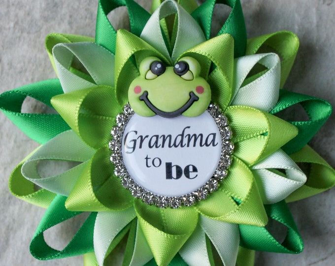 Frog Baby Shower Decorations, Boy Baby Shower Pins, Green Baby Shower Decorations, Frog Theme, Apple Green, Kelly Green, Seafoam