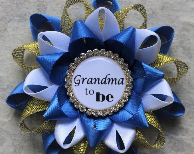 Royal Baby Shower Decorations, Little Prince Baby Shower Corsage Pins, Royal Blue and Gold Baby Shower, Baby Boy Shower Favors