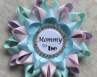 Neutral Baby Shower Pins, Gender Reveal Party Pins, Lavender, Aqua, Pale Pink, Light Blue, Neutral Baby Shower Decorations, Mommy to Be Pin
