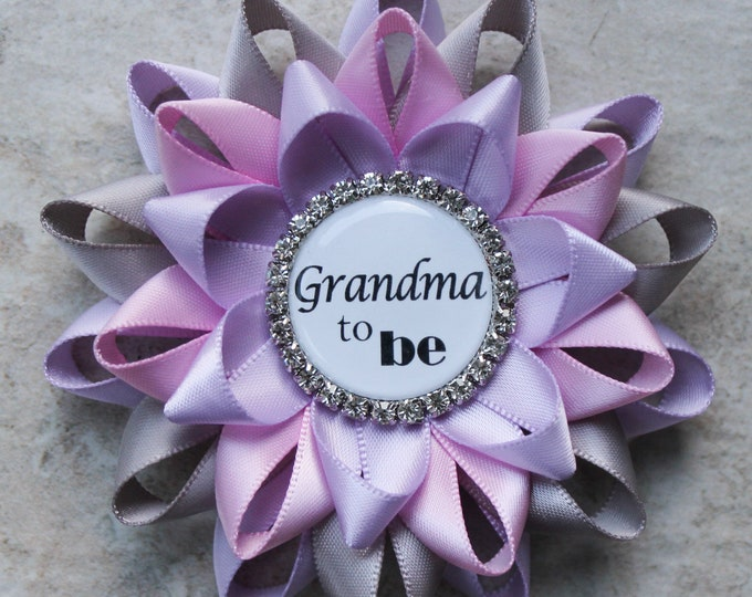 Lavender Baby Shower Decorations, Lavender and Gray Baby Shower Pins, Lavender, Pink, Baby Girl Shower Pins, Orchid, Gray, Bubblegum