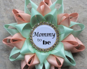 Mint And Peach Baby Shower ...
