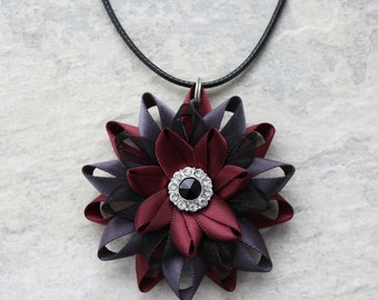 Unique Necklace Gift for Her in Burgundy