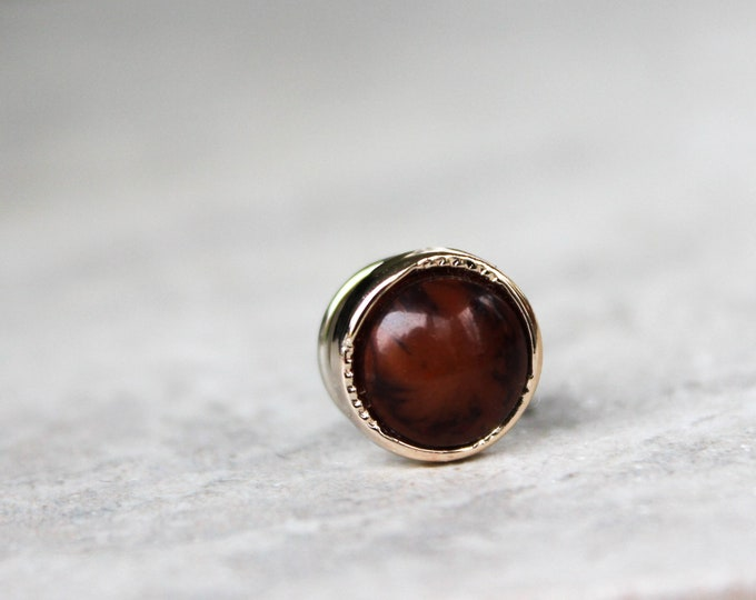 Gifts under 10 for Men, Brown and Gold Tie Pin, Gold and Brown Tie Tack, Mens Gifts, Mens Fashion, Gift for Him