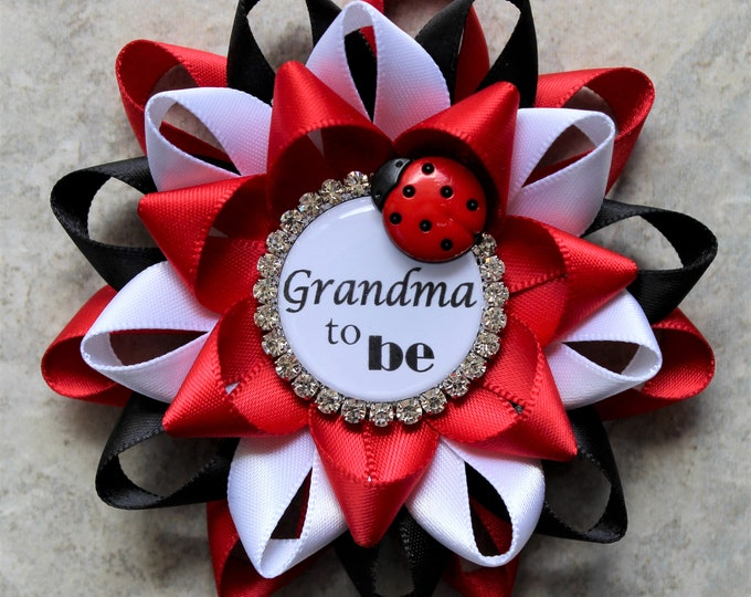 Ladybug Baby Shower Corsages, Ladybug Birthday, Ladybug Baby Shower Decorations, Ideas, Red, Black, White, Red, Black, White