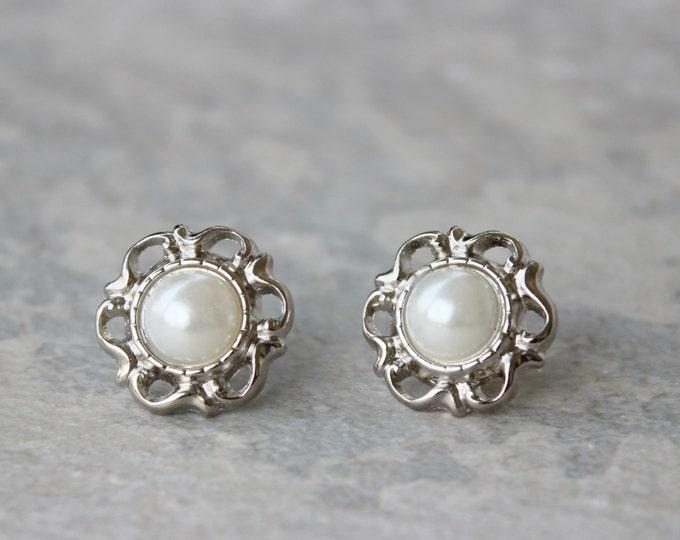 Victorian White Pearl Earrings