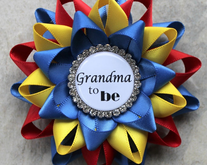 Boy Baby Shower Decorations, Baby Boy Shower Corsages, Superman Theme, Royal Blue, Red, Yellow, Baby Shower Pins, Keepsake Gift for Guests