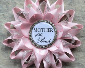 Pink Bridal Shower Decorations, Mother of the Bride Gift, Mother of the Groom Gift, Bride to Be Pin, Bridal Shower Corsage, Grandmother