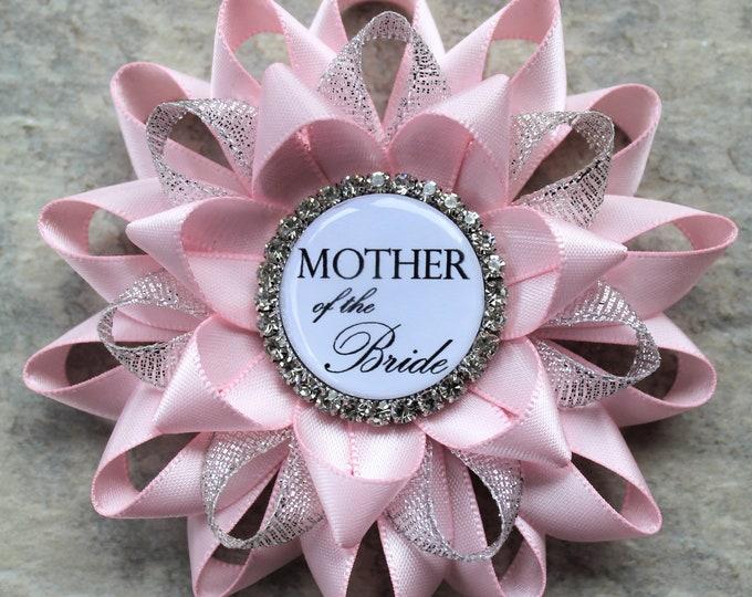 Pink Bridal Shower Decorations, Mother of the Bride Gift, Mother of the Groom Gift, Bride to Be Pin, Bridal Shower Corsage, Grandmother