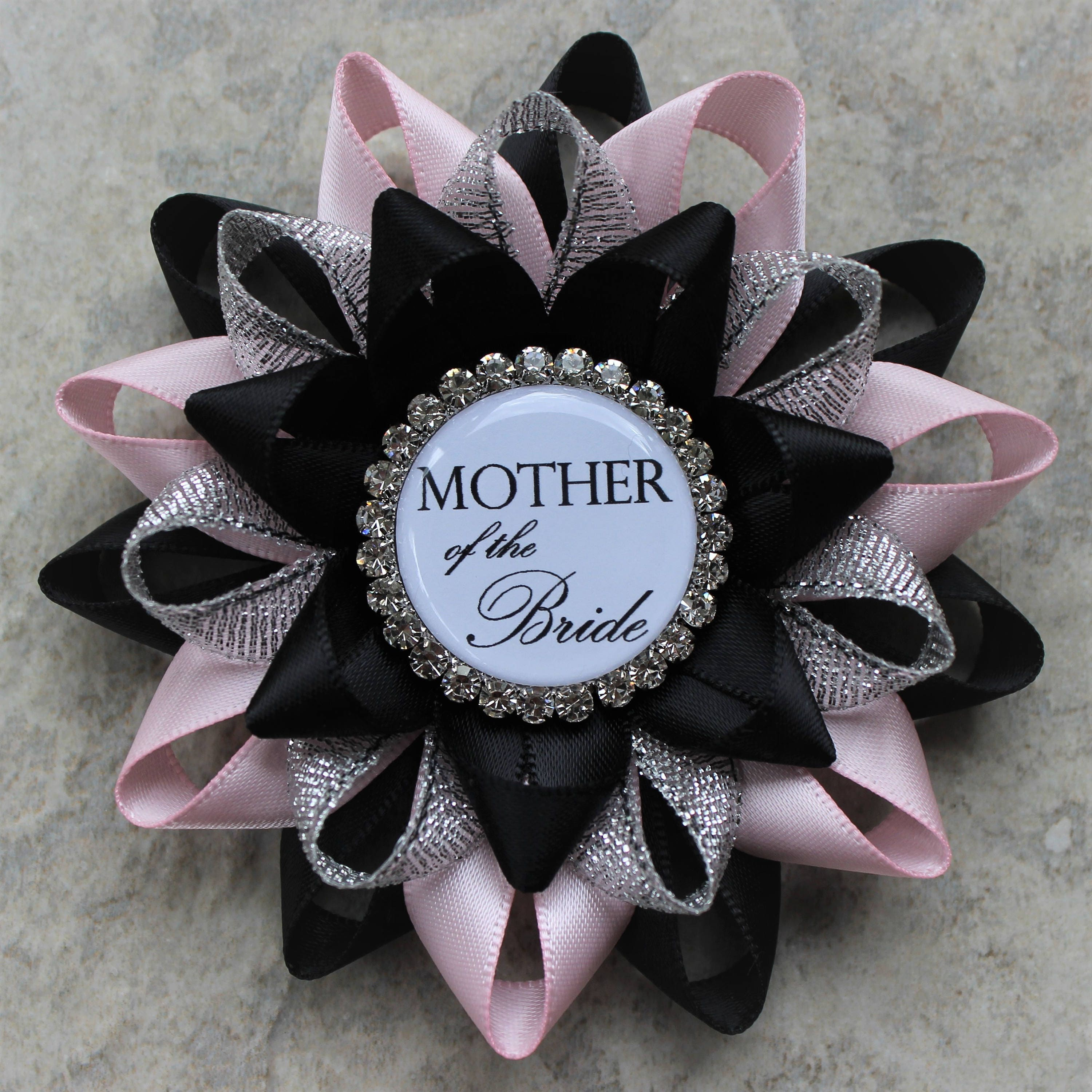 Bridal Shower Decorations Pink And Black Bridal Shower Corsage Pins