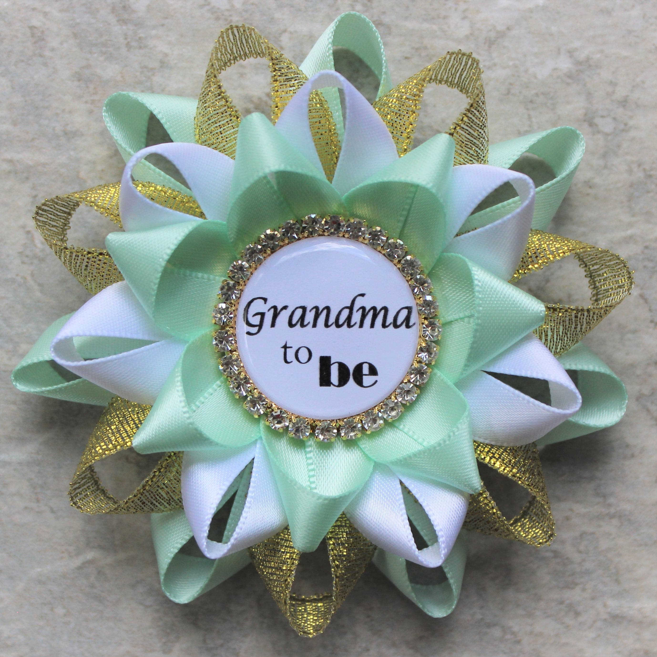 Marvelous Mint And Gold Baby Shower Pins, Baby Shower Decorations, Mint Green, Gold,  White, Baby Boy Shower, Grandma To Be, Mommy, Nana, Daddy, Sister