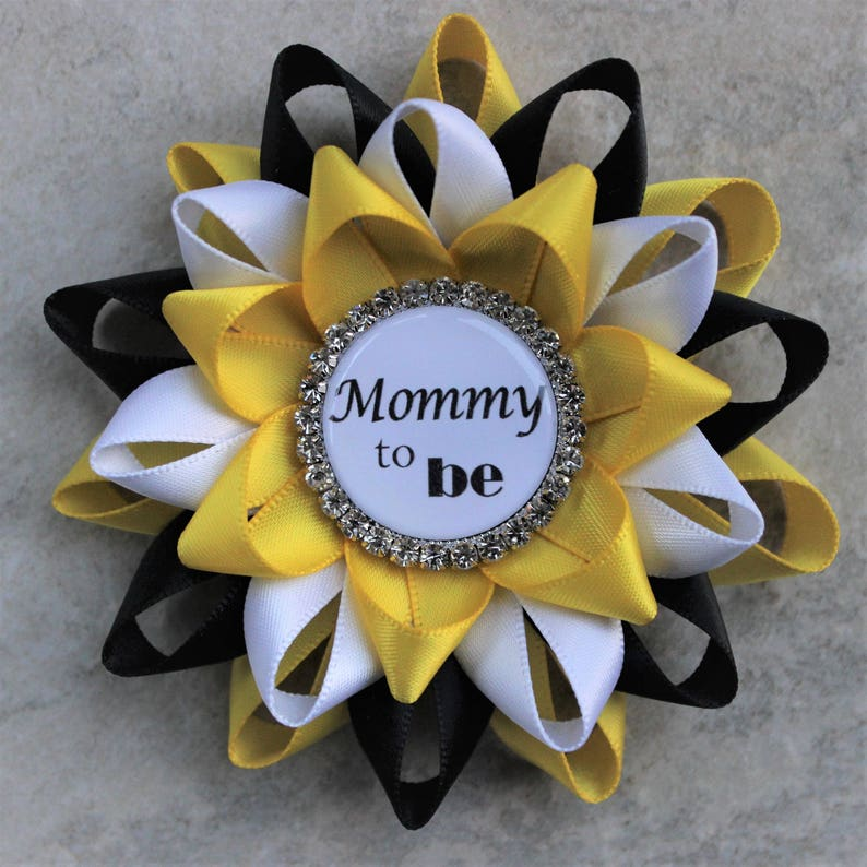 Bee Baby Shower Decorations Black And Yellow Baby Shower Etsy