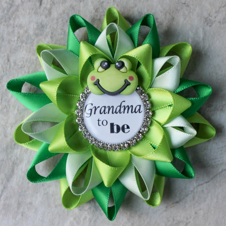 Frog Baby Shower Decorations Boy Baby Shower Pins Green Baby Etsy