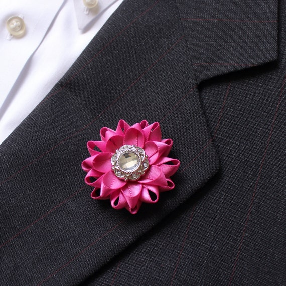 Mens Gift Pink Lapel Flower For Men Mens Suit Accessories Etsy