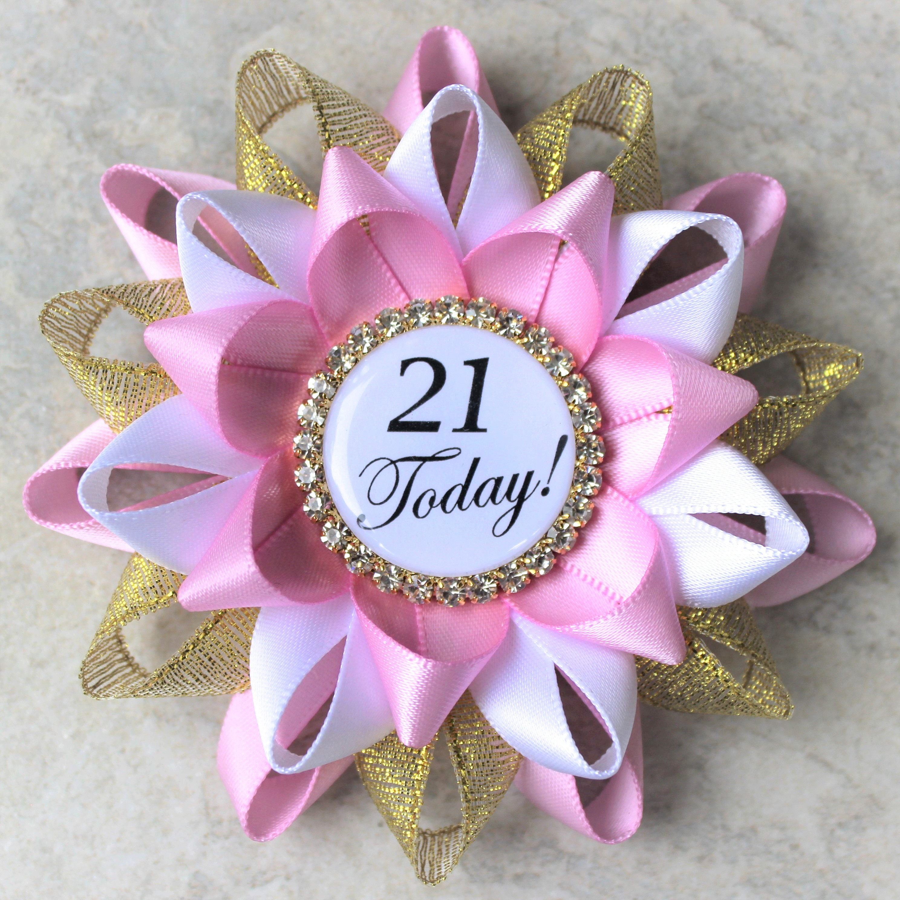 21st birthday pin, 21st birthday party decorations, gift for her