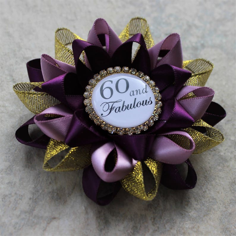 60th Birthday Gifts For Women Pin
