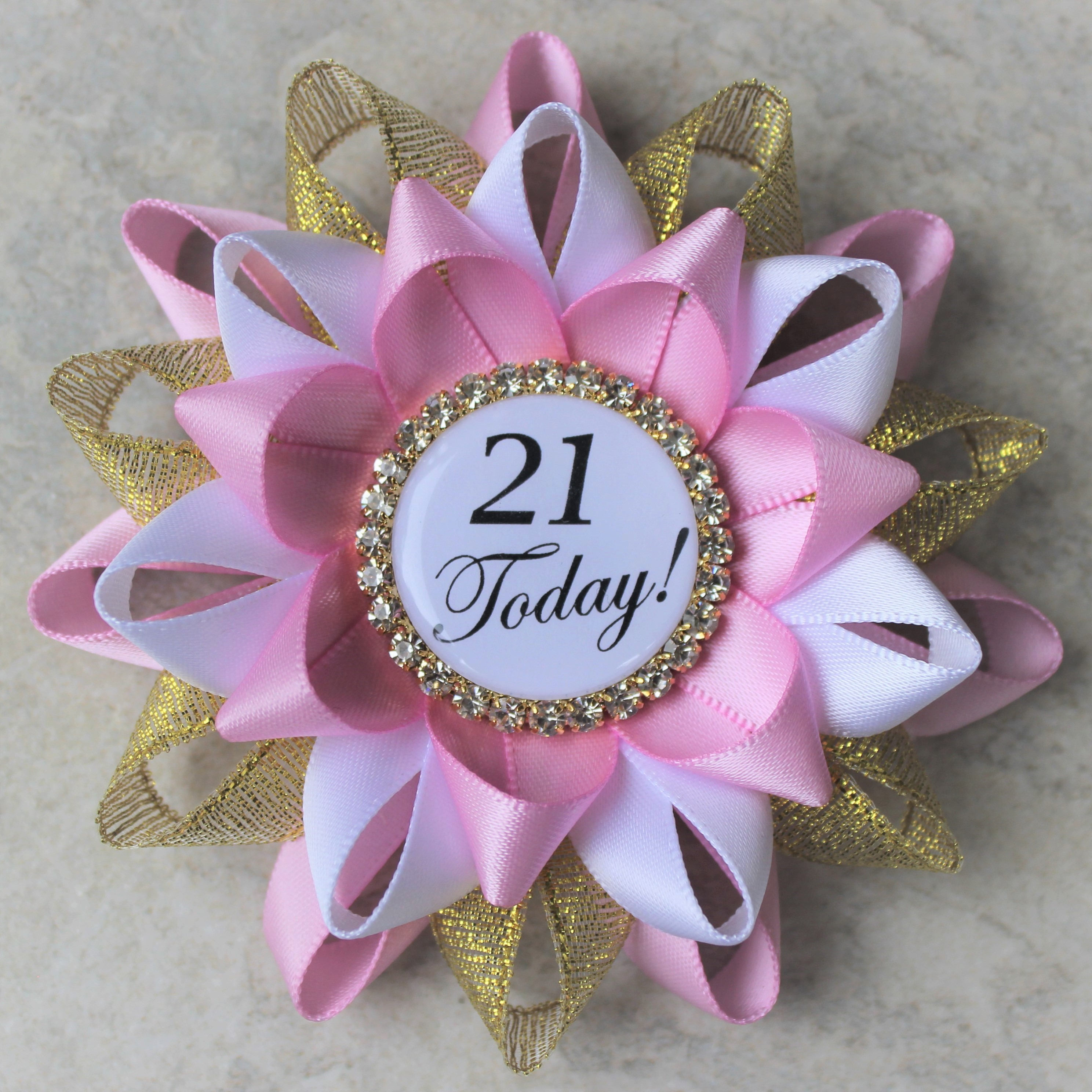 21st birthday pin 21st birthday party decorations gift for her