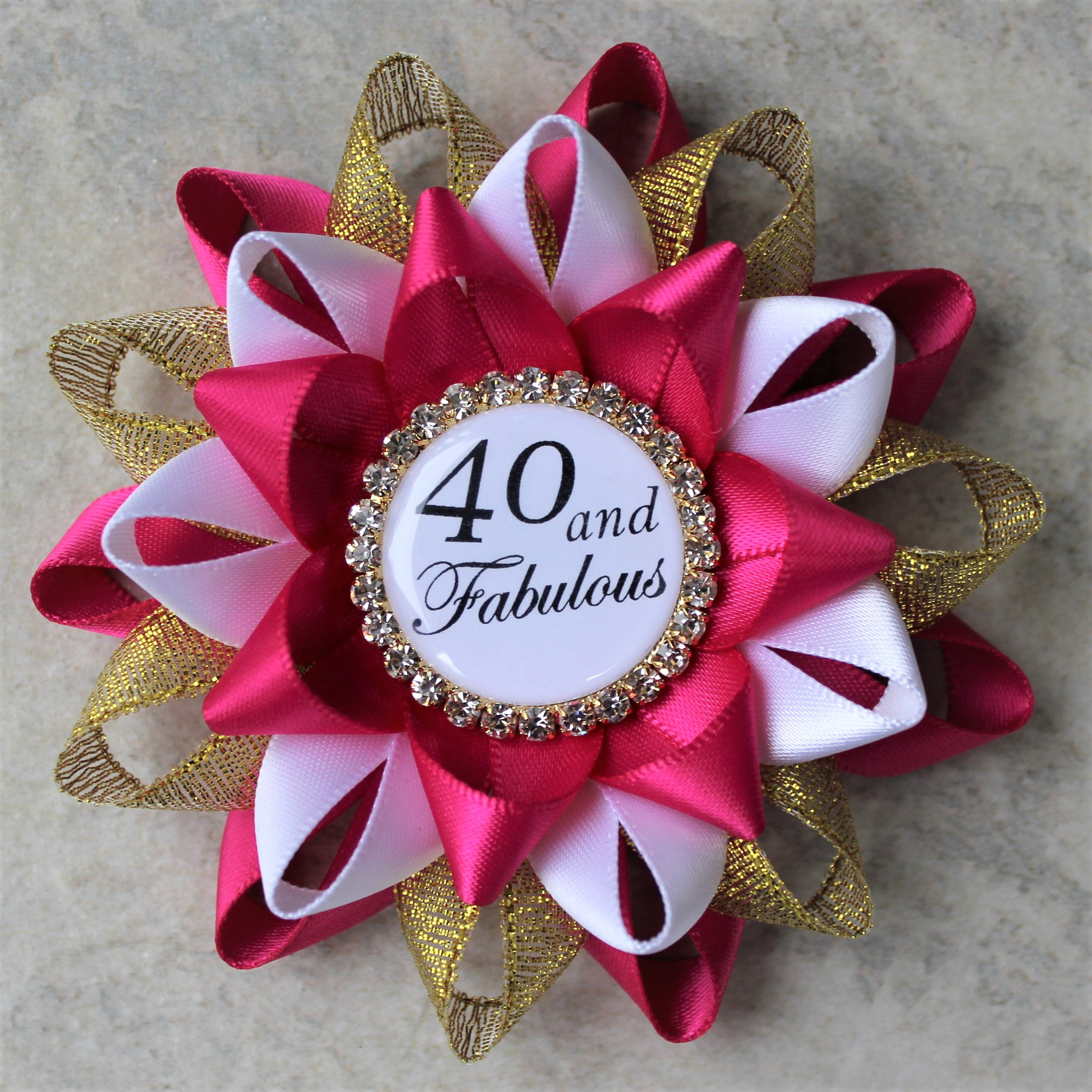 40th Birthday Party Decorations Fortieth Fuchsia Gold White Gallery Photo