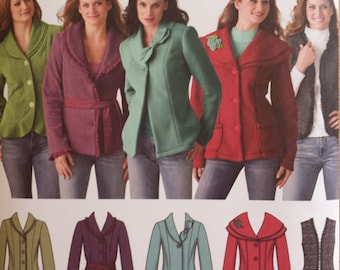 Simplicity Pattern # 4032 --Misses' Jackets and Vest