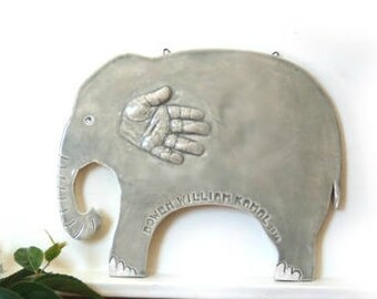 Baby Nursery Art - Custom Baby Nursery  -  Personalized Baby Nursery - Baby Handprint Art Personalized - Child Handprint Art - Baby Decor