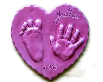 Custom Ceramic Hand and Footprint Keepsake Clay Print