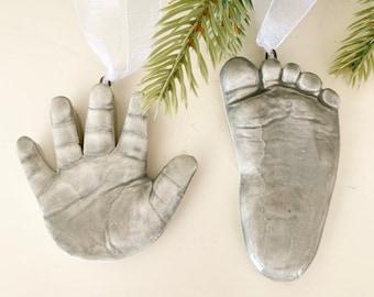 Handprint Ornament Footprint Ornament, Baby Keepsake Ornament, Baby Keepsake, Handprint Casting , Casting Kit