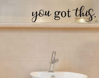 Inspirational Wall Decals You Re Beautiful Bathroom Etsy