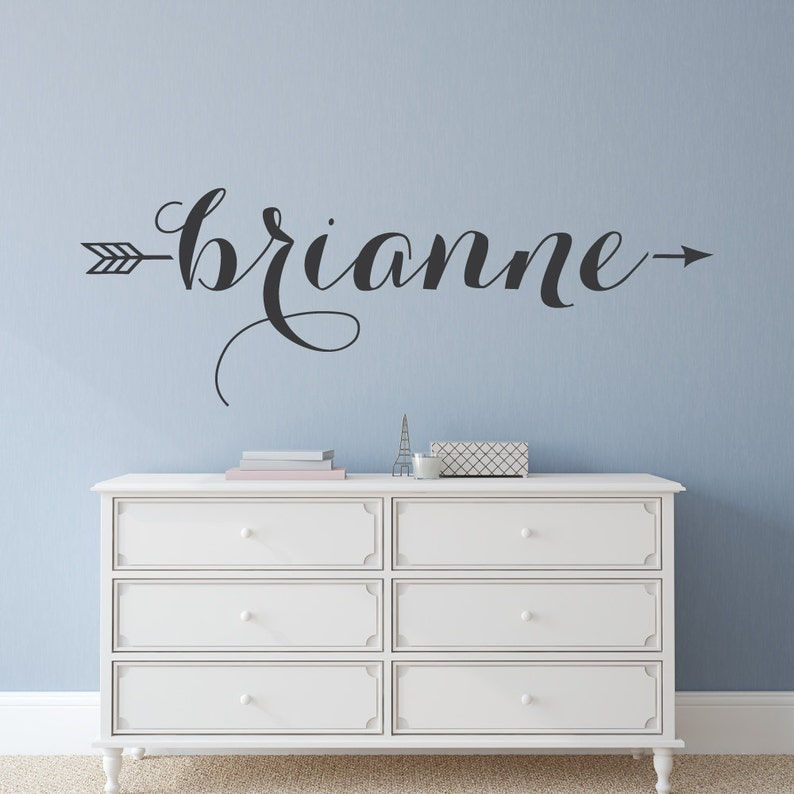 name decal name wall decal custom wall decals name | etsy