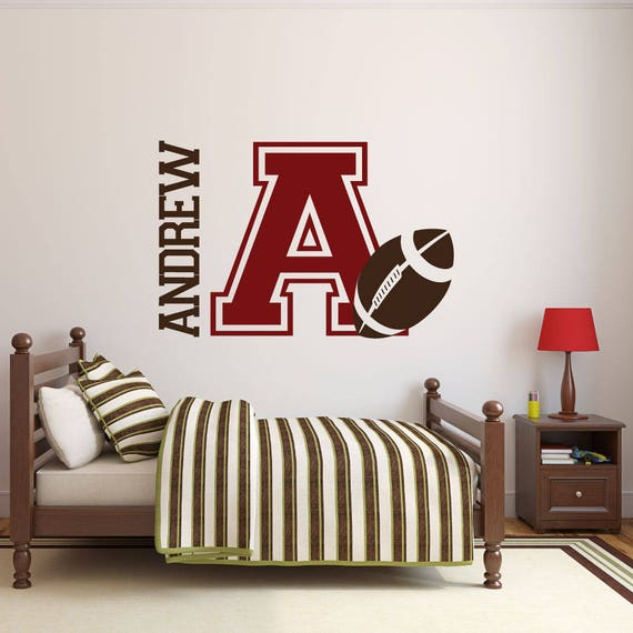 Football Wall Decal - Name Decal - Name Stickers - Name Wall Decal - Custom  Decals - Boys Room Decor - Wall Decals - Wall Stickers