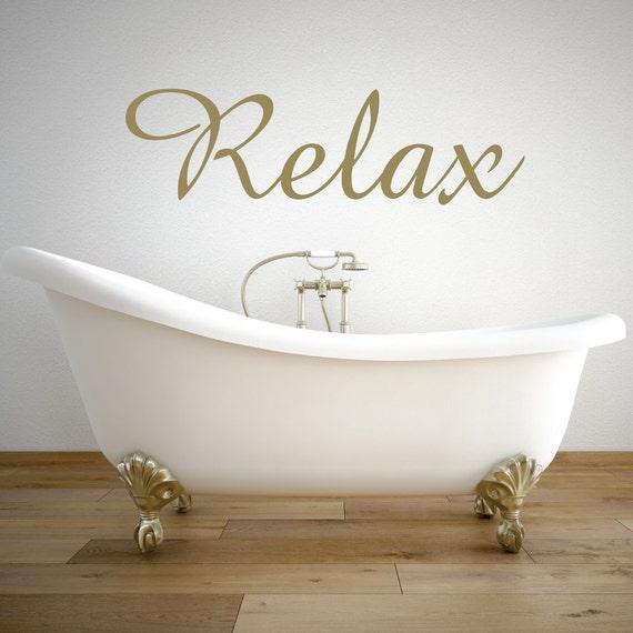 Wandtattoo Relax Entspannen Badezimmer Dekor Etsy