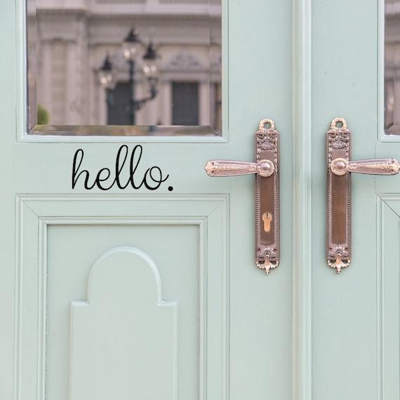 Hello Door Decal Door Decals Door Stickers Door Decal | Etsy