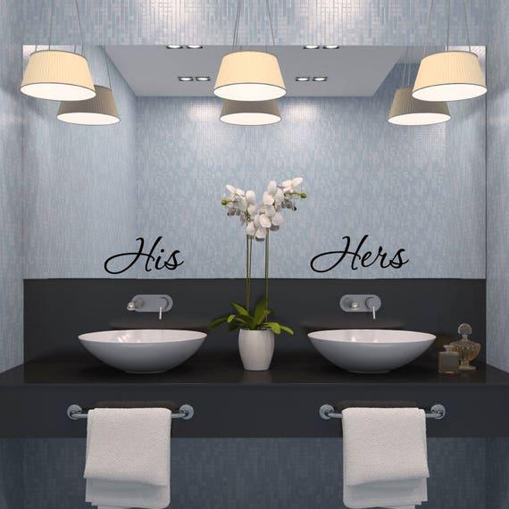 Seine und ihr - seine - Badezimmer Wand-Dekor - Badezimmer Wandtattoo -  Badezimmer Dekor - Badezimmer Wandkunst - Wandaufkleber - Wand-Aufkleber