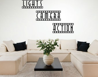 Wall Decals   Home Theater Decor   Theater Room   Movie Room Decor   Movie  Theater